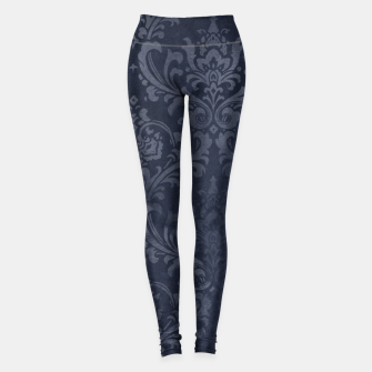 Thumbnail image of Navy & Gold luxury pattern Legginsy, Live Heroes