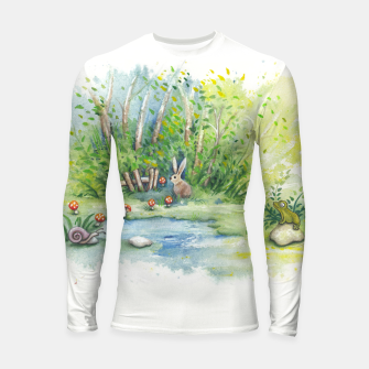 Thumbnail image of Mushrooms, Bunny, Frog and Snail Longsleeve rashguard , Live Heroes
