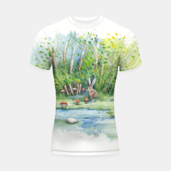 Thumbnail image of Mushrooms, Bunny, Frog and Snail Shortsleeve rashguard, Live Heroes