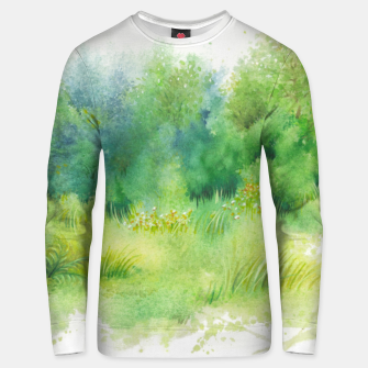 Thumbnail image of watercolor Greenery Unisex sweater, Live Heroes