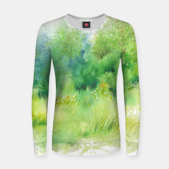 Thumbnail image of watercolor Greenery Women sweater, Live Heroes
