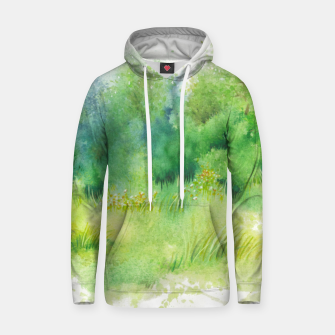 Thumbnail image of watercolor Greenery Hoodie, Live Heroes