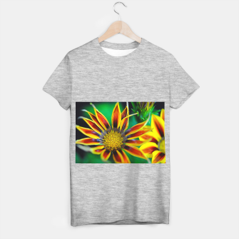 Thumbnail image of Orange and Yellow Flower T-shirt regular, Live Heroes