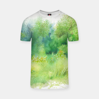 Thumbnail image of watercolor Greenery T-shirt, Live Heroes