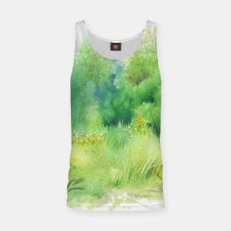 Thumbnail image of watercolor Greenery Tank Top, Live Heroes