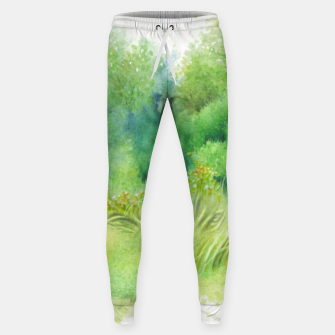 Thumbnail image of watercolor Greenery Sweatpants, Live Heroes