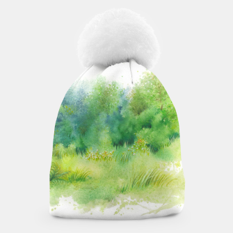 Thumbnail image of watercolor Greenery Beanie, Live Heroes