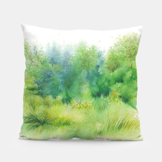 Thumbnail image of watercolor Greenery Pillow, Live Heroes