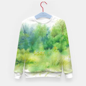 Miniaturka watercolor Greenery Kid's sweater, Live Heroes
