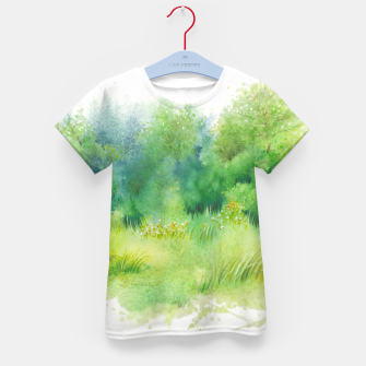Thumbnail image of watercolor Greenery Kid's t-shirt, Live Heroes