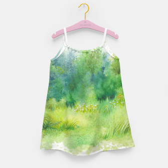 Thumbnail image of watercolor Greenery Girl's dress, Live Heroes