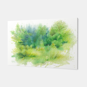 Miniatur watercolor Greenery Canvas, Live Heroes
