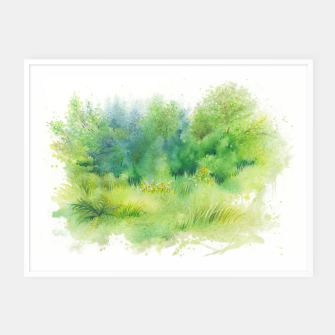 Thumbnail image of watercolor Greenery Framed poster, Live Heroes