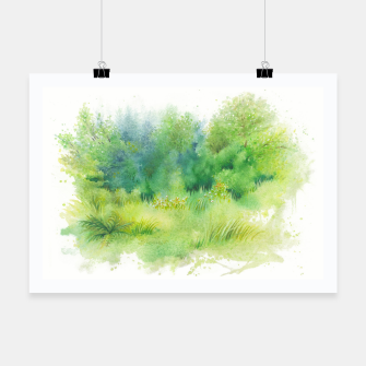 Thumbnail image of watercolor Greenery Poster, Live Heroes
