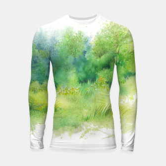 Thumbnail image of watercolor Greenery Longsleeve rashguard , Live Heroes