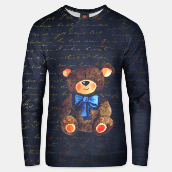 Thumbnail image of Teddy bear Unisex sweater, Live Heroes