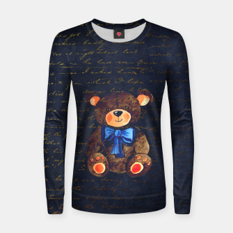 Thumbnail image of Teddy bear Women sweater, Live Heroes