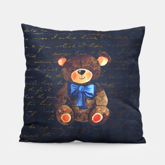 Thumbnail image of Teddy bear Pillow, Live Heroes