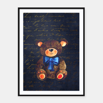 Thumbnail image of Teddy bear Framed poster, Live Heroes