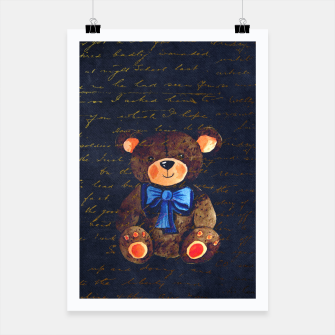 Thumbnail image of Teddy bear Poster, Live Heroes
