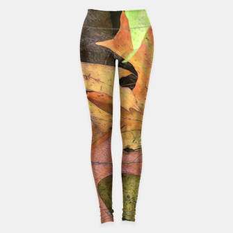 Thumbnail image of Early October Leaves 2 Leggings, Live Heroes