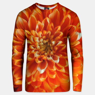 Miniaturka Orange Chrysanthemum Unisex sweater, Live Heroes