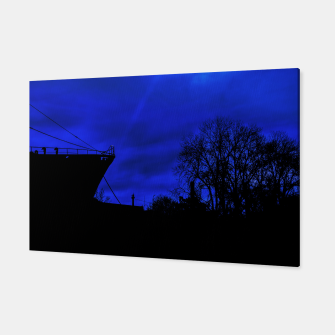 Thumbnail image of Silhouette Scene at Dock, Buenos Aires, Argentina Canvas, Live Heroes
