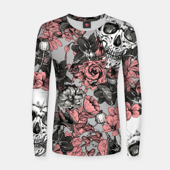 Thumbnail image of SKULLS IN PINK Women sweater, Live Heroes