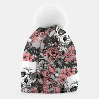 Thumbnail image of SKULLS IN PINK Beanie, Live Heroes