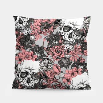 Thumbnail image of SKULLS IN PINK Pillow, Live Heroes