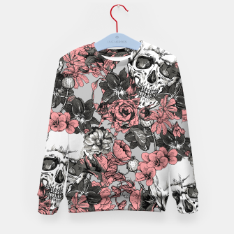 Thumbnail image of SKULLS IN PINK Kid's sweater, Live Heroes