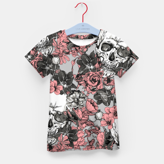 Thumbnail image of SKULLS IN PINK Kid's t-shirt, Live Heroes