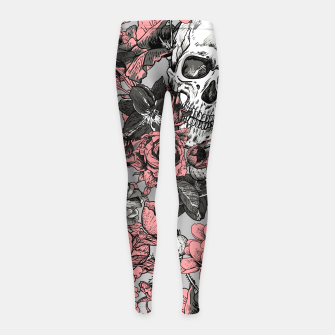 Thumbnail image of SKULLS IN PINK Girl's leggings, Live Heroes