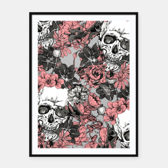Thumbnail image of SKULLS IN PINK Framed poster, Live Heroes