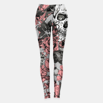 Thumbnail image of SKULLS IN PINK Leggings, Live Heroes