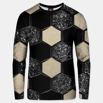 Miniaturka Hexagon Glitter Glam #1 #geometric #decor #art Unisex sweatshirt, Live Heroes