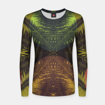 Thumbnail image of Palm tree and shapes Women sweater, Live Heroes