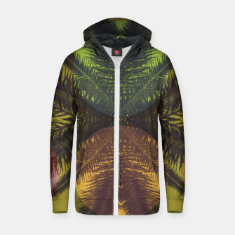Thumbnail image of Palm tree and shapes Zip up hoodie, Live Heroes