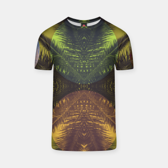 Thumbnail image of Palm tree and shapes T-shirt, Live Heroes