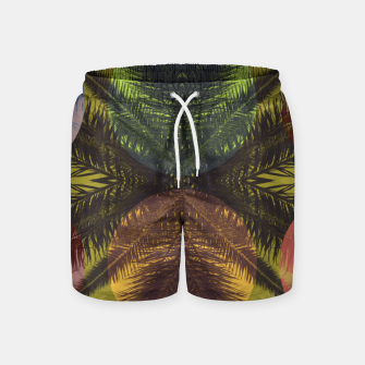 Thumbnail image of Palm tree and shapes Swim Shorts, Live Heroes