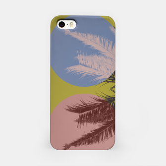 Thumbnail image of Palm tree and shapes iPhone Case, Live Heroes