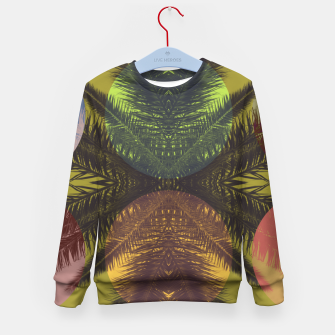 Thumbnail image of Palm tree and shapes Kid's sweater, Live Heroes