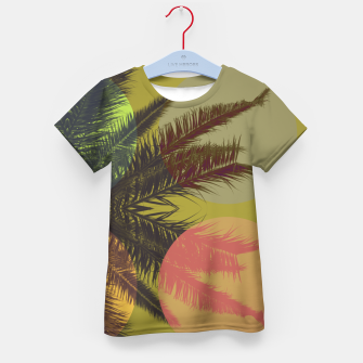 Thumbnail image of Palm tree and shapes Kid's t-shirt, Live Heroes