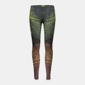 Thumbnail image of Palm tree and shapes Girl's leggings, Live Heroes