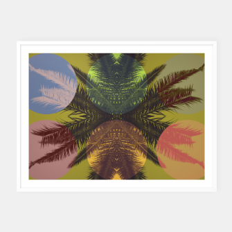 Thumbnail image of Palm tree and shapes Framed poster, Live Heroes