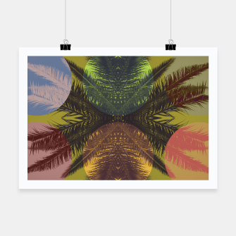 Thumbnail image of Palm tree and shapes Poster, Live Heroes