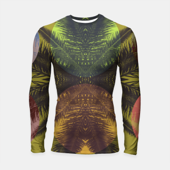 Thumbnail image of Palm tree and shapes Longsleeve rashguard , Live Heroes