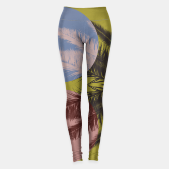 Miniatur Palm tree and shapes Leggings, Live Heroes