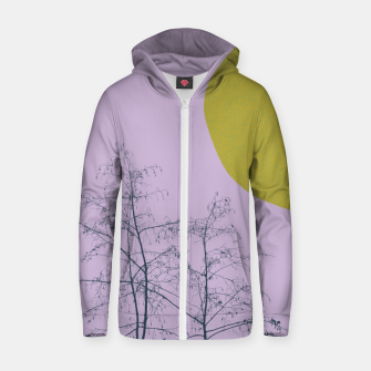 Miniatur Trees and shape Zip up hoodie, Live Heroes