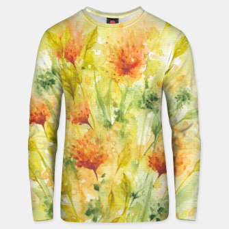 Miniaturka Fiery Florals Watercolors Unisex sweater, Live Heroes
